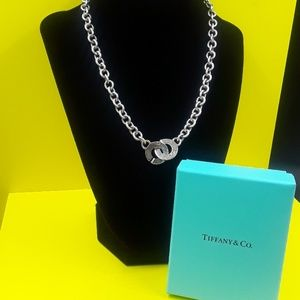 Authentic Tiffany and Co C clasp necklace 925